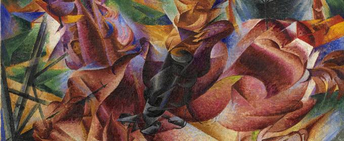 5166+Boccioni+Umberto+Corpo+umano+(Dinamismo)+1913,+olio+su+tela,+cm+80x65