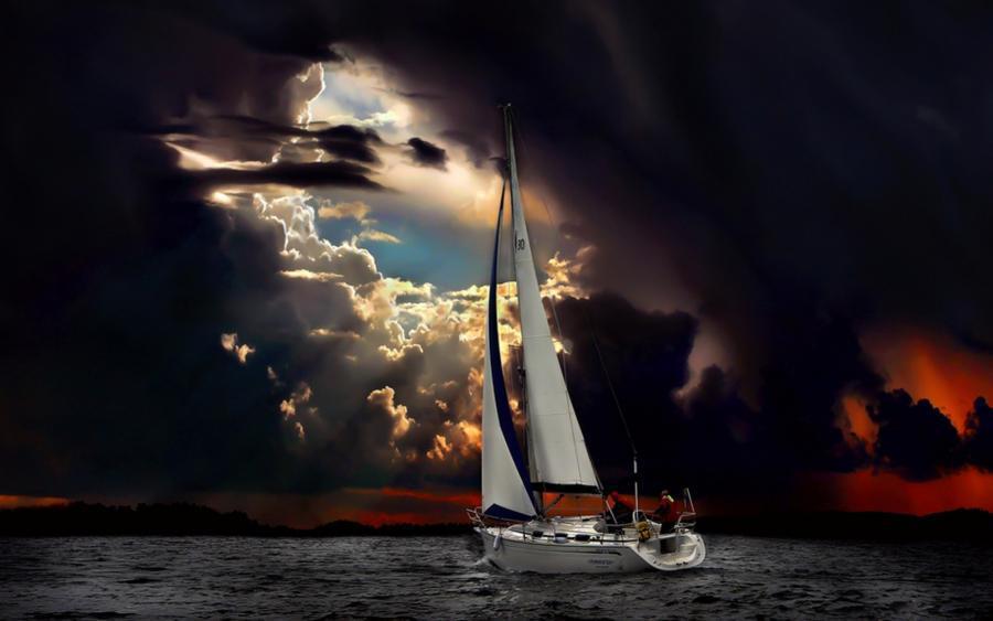 vela nella tempesta